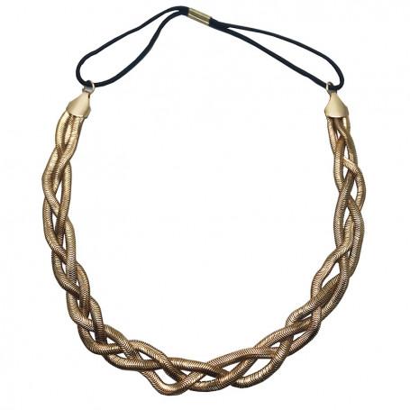 Flätat hårband i silver eller guld