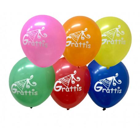 Grattis ballonger med tryck