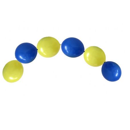 Kedjeballonger Blå & Gula