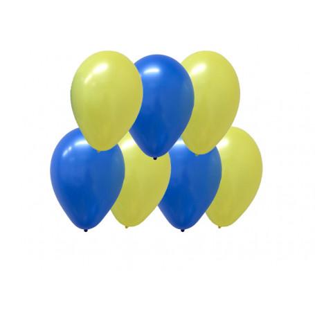 Blå & Gula ballonger 10-p