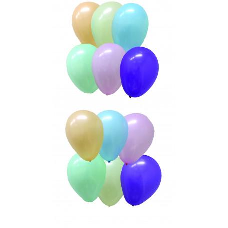 Runda ballonger pastell färger barn kalas latex uppblåsta mäter ballongerna ca 30 cm i diameter.