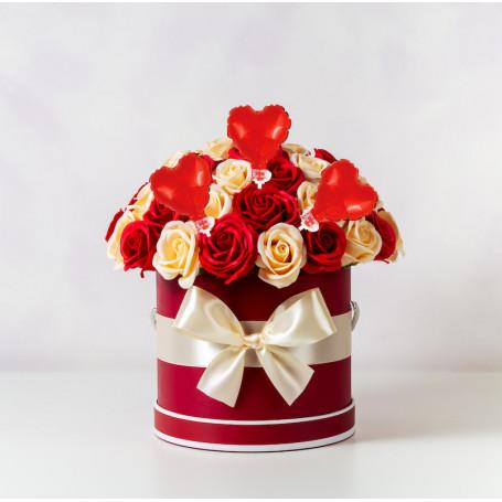 Hjärtformad miniballong folieballonger tårtan blombukett