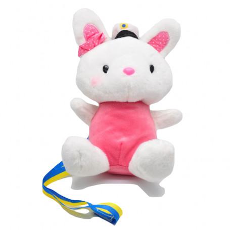 Examensmaskot rosa kanin med studentmössa student pynt studentmaskot