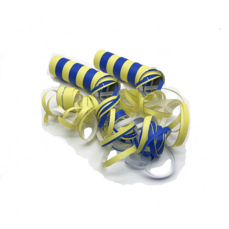 Blå/gula serpentiner 2-p