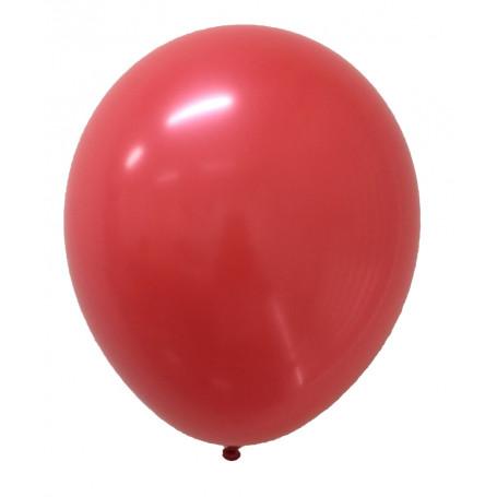 Rund, röd latexballong ca 25 cm