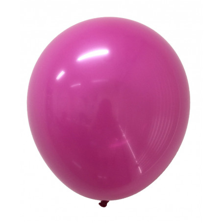 Runda ballonger i latex rubinröda 20-p
