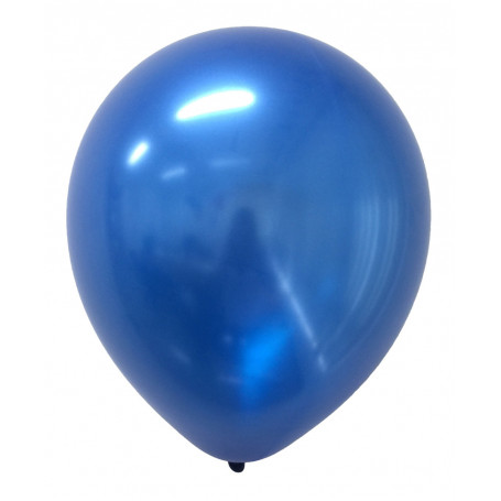 Runda Metallic ballonger i Blått 20-p latex helium metallisk festballonger