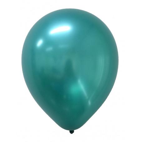 Runda Metallic ballonger i grönt 20 p latex ballonger festballonger metallisk