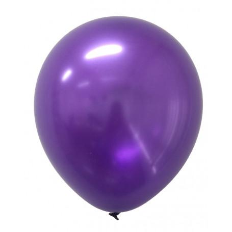 Runda Lila metallic ballonger 20-p metallisk festballonger latex helium
