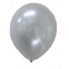 Ballonger med metallic effekt vita 20-p metallisk festballonger latex ballonger runda helium
