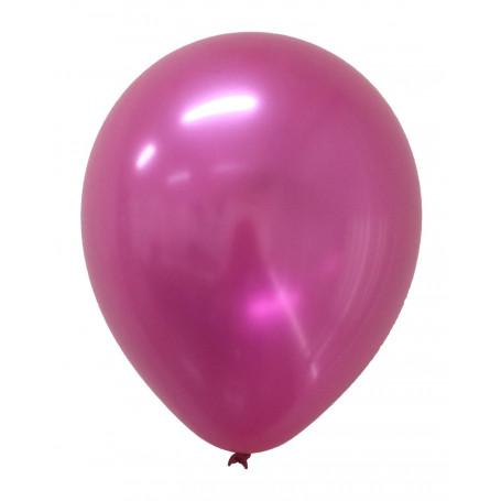 Metallic-ballonger Mörkrosa 20-p latex helium festballonger metallisk