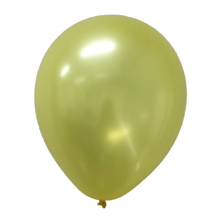 Gula pärlemor skimrande ballonger latex ballonger enfärgade student Sverige studentfest bamse