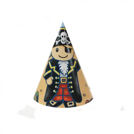 Partyhattar med pirattema papper piratkalaset barnkalas födelsedag