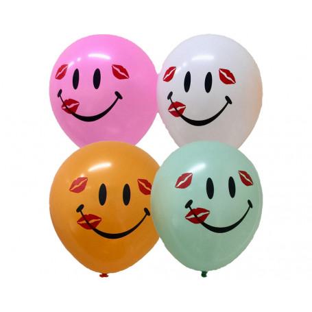 Pastellfärgade Smile ballonger