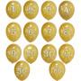 Sifferballonger i Guld med tryckta siffror 8-p