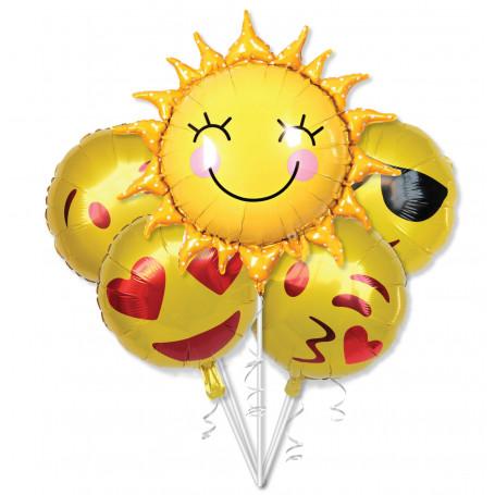Folieballonger tryckta med Emoji figurer