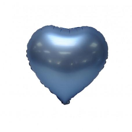 folieballong chrome blå hjärta student Sverige svenska helium i hjärta form