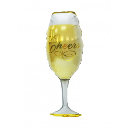 ballong folieballong champagne champagneglas helium födelsedag fest