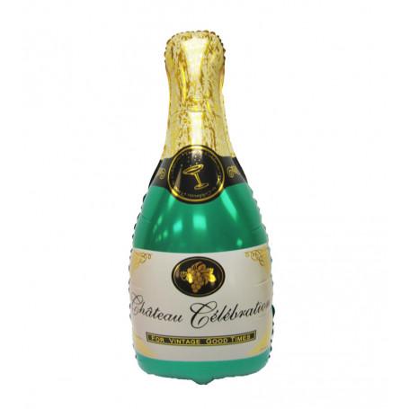 Stor champagneflaska folieballon helium fest födelsedag