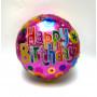 Folieballong Happy Birthday rosa bakgrund