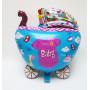 Folieballong i form av en vagn med texten BABY