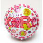 Folieballong med text Baby Girl Rosa