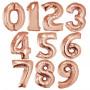 Rosé färgade sifferballonger 0-9 86cm