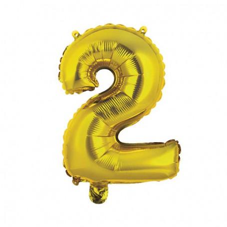 SIFFERBALLONG NR. 2 86cm födelsedagar, årsdagar och nyårsafton folieballong helium