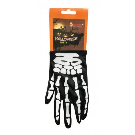 Självlysande Handskar - Skelett