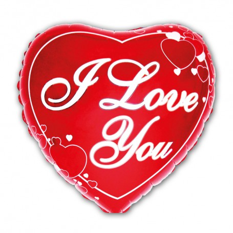 Hjärta folie med text i love you