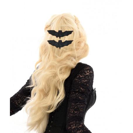 Hårspänne med Fladdermus svart glitter