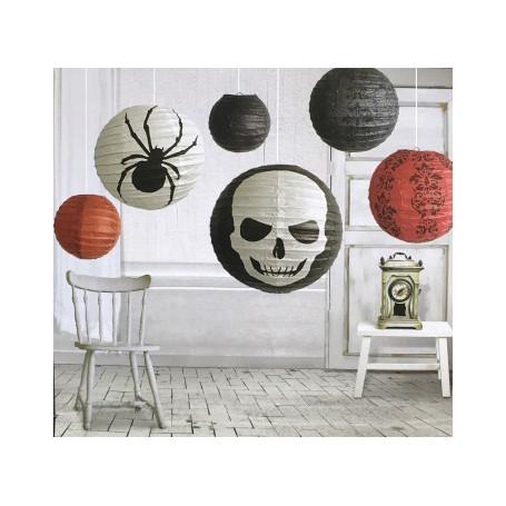 Lyktor Halloween i papper 6-p