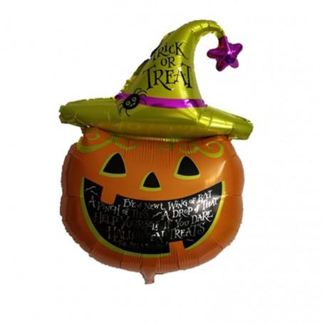 Folieballong Pumpa med hatt