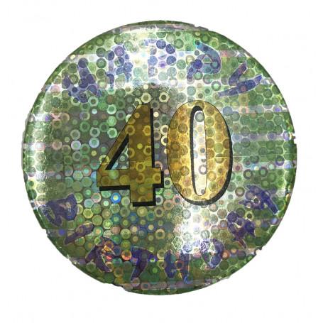 BIRTHDAY BADGE NR. 40