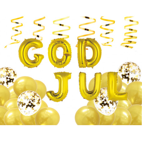 GOD JUL BALLONGKIT - GULD