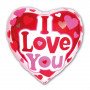 I love You Hjärta vit bakgrund folie