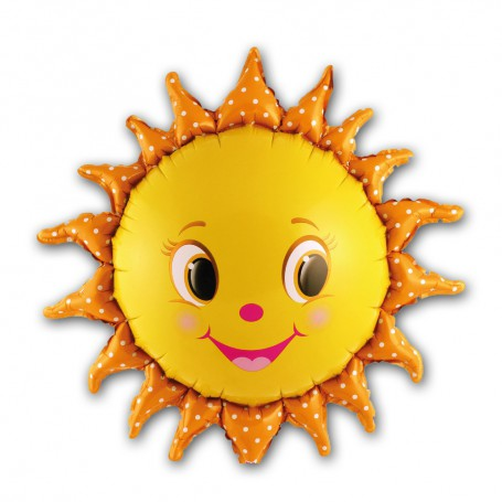 Leende Sol folieballong