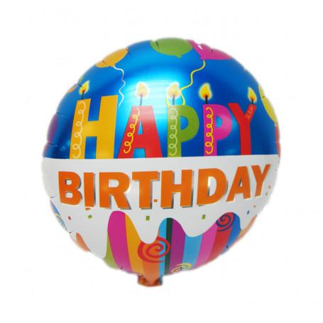 Happy Birthday ballong folie
