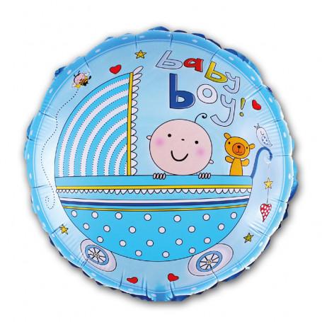 Babyshower folieballong BOY blå