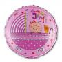 Babyshower folieballong Girl rosa