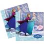 Servetter med motiv från Frost/Frozen, Anna och Elsa som åker skridskor tillsammans.