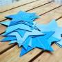 Girlang med blå stjärnor
