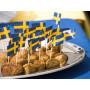 Svenska flaggor på tandpetare - 20-pack