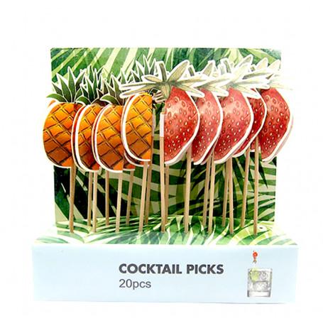 Partysticks med ananas och jordgubbe honeycomb 20-P