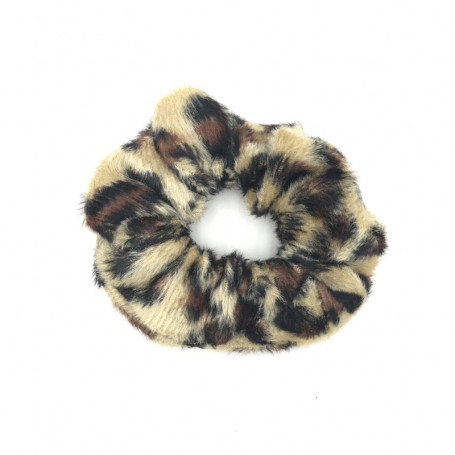 Scrunchie i leopardmönster