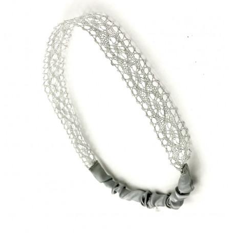 Hårband spets silver