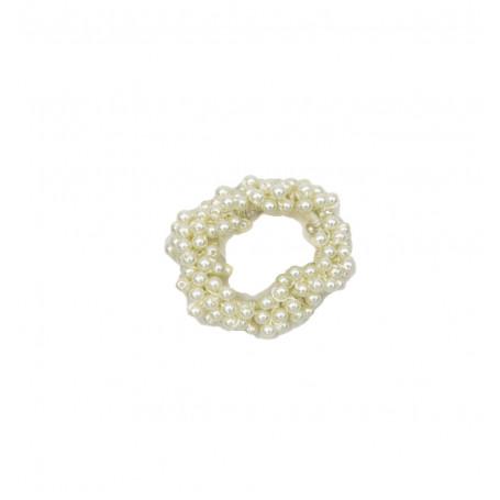 Hårsnodd/scrunchie med pärlor
