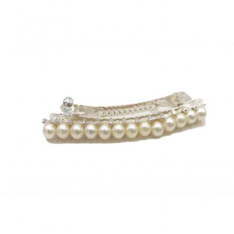 Hårklämma med pärlor