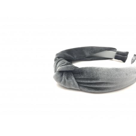 Diadem i sammet med knut
