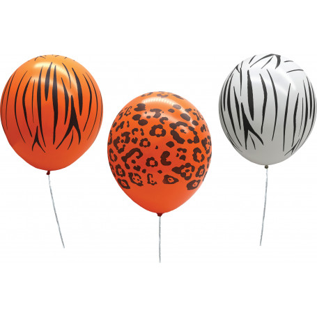 Ballonger med djurmönster 12 st